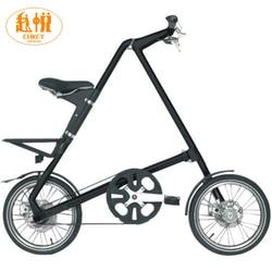 Light weight Smart SLIDA folding bike Folding Bicycle 16 Inch size Complete Road mini Bike Aluminium Frame New Creative In Car