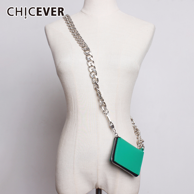 CHICEVER Vintage Chain Crossbody Women's Bag Korean Chic Style Female Bags Spring Summer Fashion Clothing Accessories 2020 New