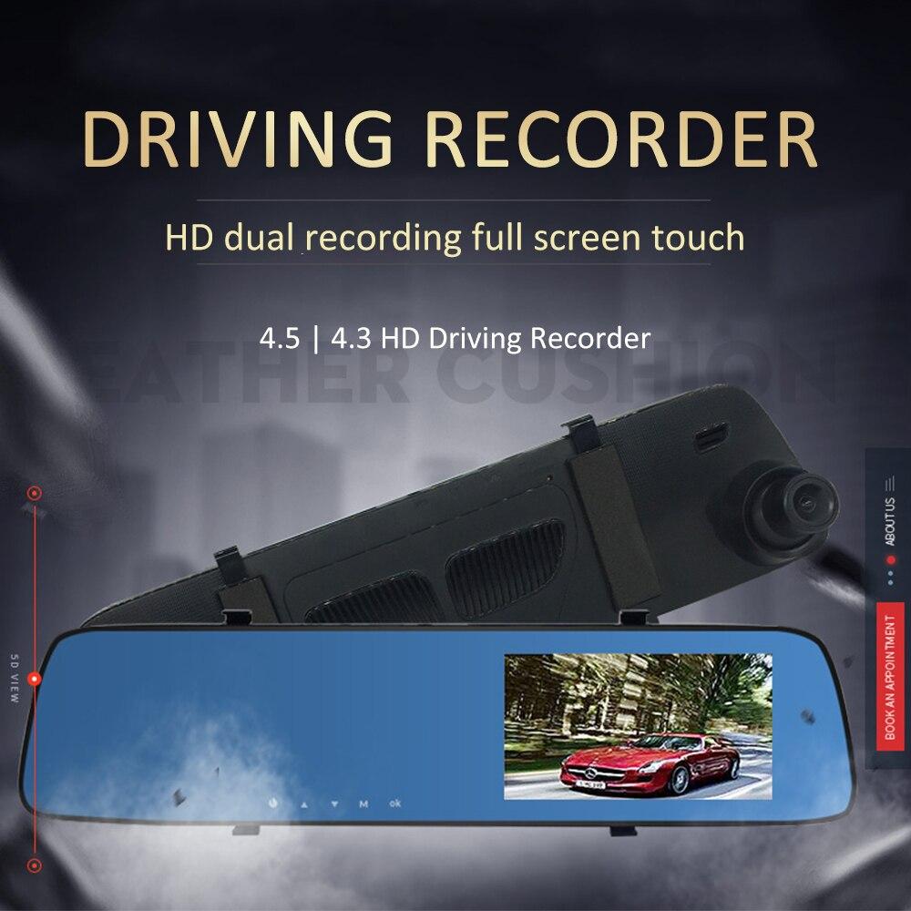 Neue Auto Kamera Verkehrs Recorder 4,5 zoll IPS HD Nachtsicht 1080P Doppel Objektiv Reverse Bild Auto DVR Dash cam Vorderseite Rückseite Aufzeichnungen