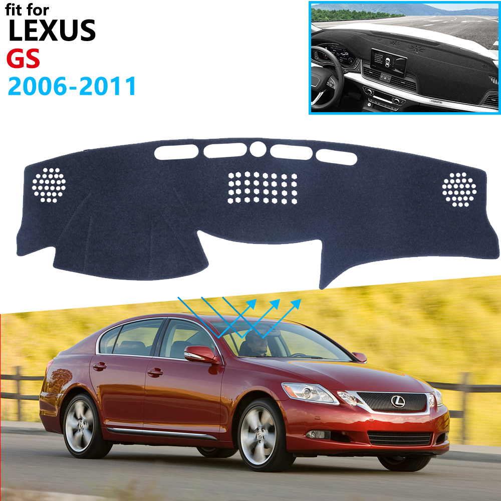 Dashboard Cover Protective Pad for Lexus GS GS300 GS430 GS450h GS350 GS460 2006 2011 Car Accessories Sunshade F Sport 300 430