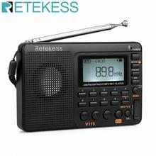 цена на 10pcs TIVDIO V-115 FM/AM/SW Radio Receiver Music Player (MP3/WMA) 3 Recording Mode Portable Radio With 1000mAh Battery In Moscow