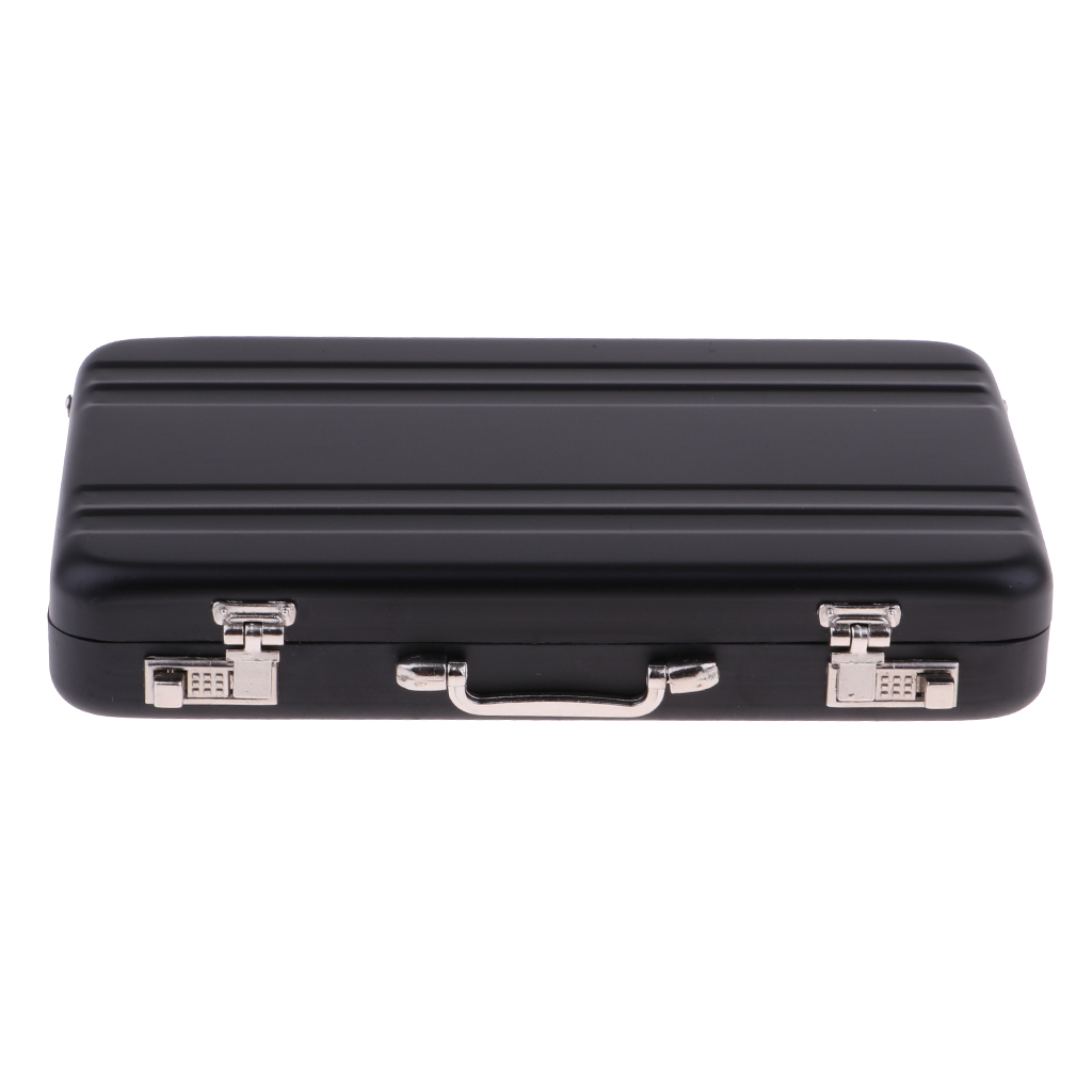 1/12 Dollhouse Miniature Travel Metal Code Suitcase Briefcase Toy Home Decoration Doll Accessory Luggage Case