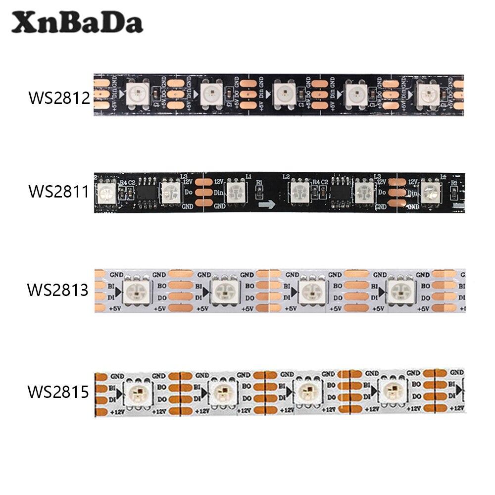 WS2812B 30//60//144led//m Ws2811 WS2813 WS2815 Smart RGB Led Light Strip DC5V DC12V