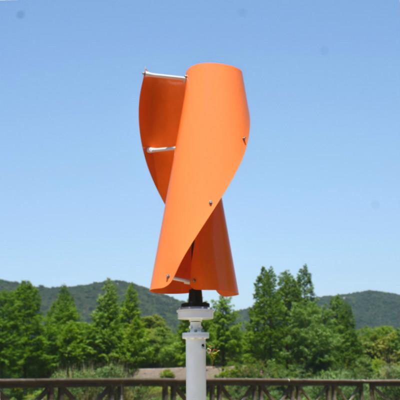 R&X 500W 24V Wind Turbine Vertical Generator Orange Wind Turbine Free MPPT Controller Low Speed Starting For Home Street Lights