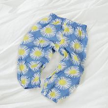 Spodnie dla niemowląt spodnie dla niemowląt szerokie nogawki letnie spodnie dla dzieci ubrania dla dzieci garnitur oddychający krem do opalania muślin gaza tanie tanio COTTON Na co dzień Elastyczny pas Pasuje prawda na wymiar weź swój normalny rozmiar Drukuj Suknem Luźne BMT056 Unisex
