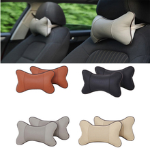 New 1pc Car Seat Head Auto PVC Leather Cushion Headrest Car Neck Pillow Relax Muscle Health Care Car Interior Accessories