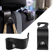 2 pçs abs material assento de carro volta ganchos multi-função pendurado saco rack para toyota chr corolla yaris auris avensis verso sienna