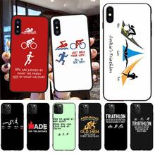 CUTEWANAN Item Triathlon Ironman Black Soft Shell Phone Case Capa for iPhone 11 pro XS MAX 8 7 6 6S Plus X 5S SE 2020 XR case cutewanan shooting game apex legends black soft shell phone case capa for iphone 11 pro xs max 8 7 6 6s plus x 5s se xr case