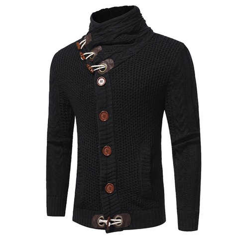 2019Autumn Winter Fashion Casual Cardigan Sweater Coat Men Loose Fit 100 %Terylene Warm Knitting Clothes Sweater Coats Men 4xl Islamabad
