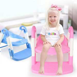 Kidlove Baby 3 in 1 Multi-functional Stepped Toilet Foldable Ladder with Potty