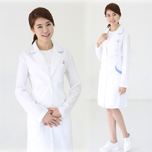 Cosmetic hospital medical doctors wear white coats long sleeves beauty salon uniforms
