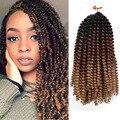 AISI BEAUTY пушистые Пружинные удлинители волос, черные, коричневые Омбре, вязаные крючком косы, синтетические плетеные волосы, радужные вязаные...