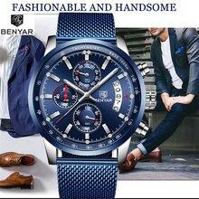 Мужские часы benyar новинка топ класса люкс бренд бизнес дата
