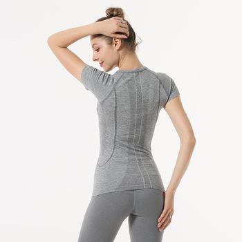 NWT 2021 kobieta koszulka z krótkim rękawkiem elastyczna joga Mesh sport T shirt Fitness damska siłownia działa czarne bluzki tee darmowa wysyłka tanie i dobre opinie HAIMAITONG WOMEN CN (pochodzenie) NYLON SHORT Dobrze pasuje do rozmiaru wybierz swój normalny rozmiar Z dzianiny oddychająca
