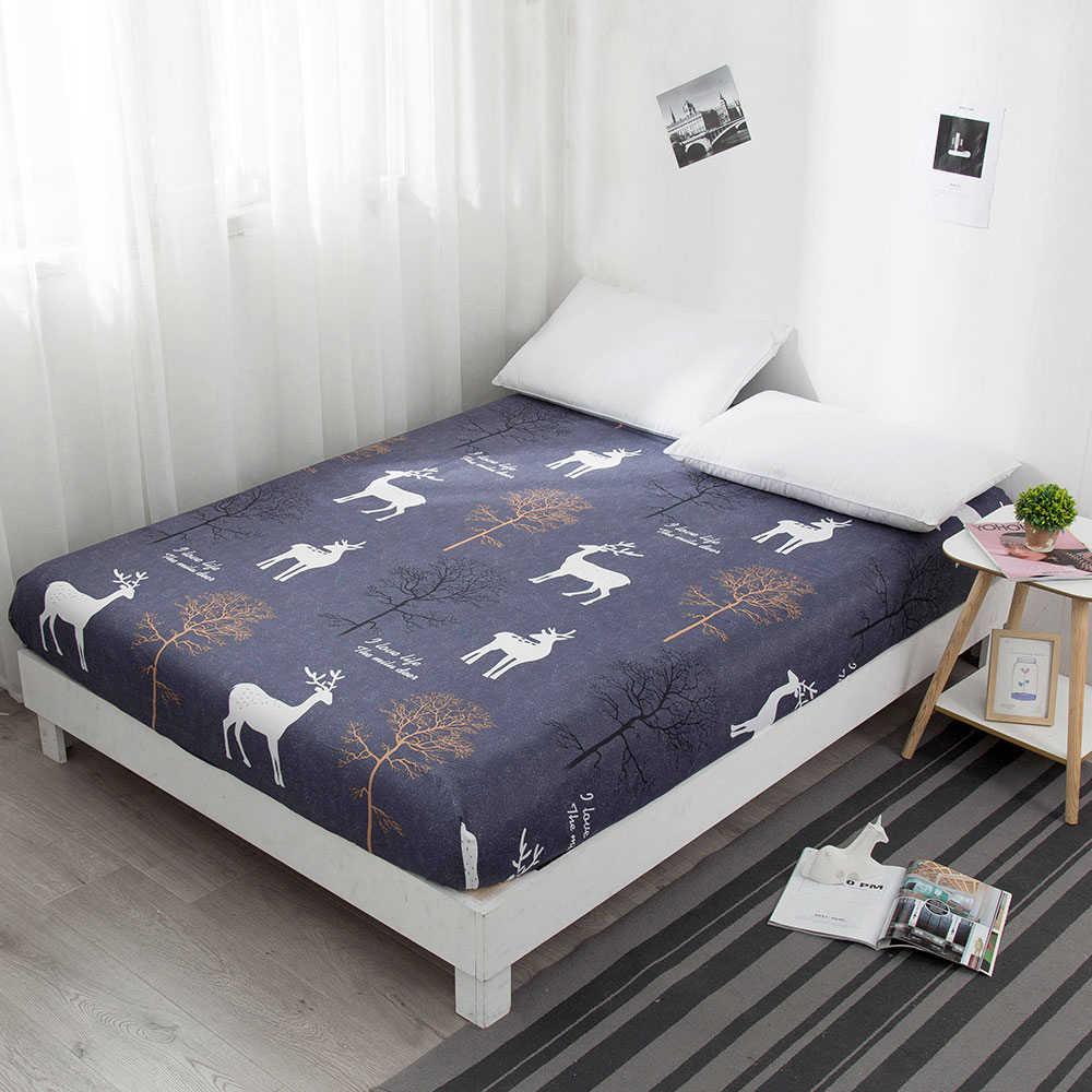 Mode Warna Bed Sheet dan Sesuai dengan Kapas Set Tempat Tidur Tempat Tidur Lembar Selimut Penutup Sarung Bantal 1 PC Kombinasi Bed Cover linen