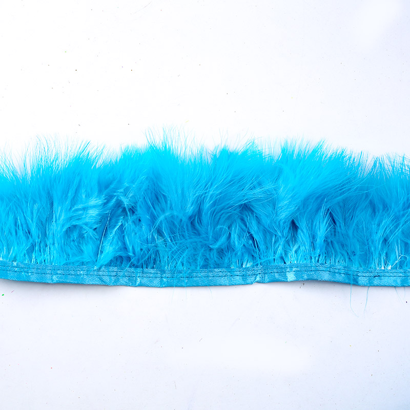 Turkey Feather Cloth Edge 200 9CM Wedding Dress Decoration DIY Jewelry Fluffy Art Feather Clothing Accessories in Feather from Home Garden