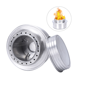Camping Alcohol Stove Burner Portable Mini Aluminum Alloy Alcoho Stove with Lid Outdoor Camping Hiking Backpacking Cooking Stove