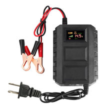 Automobile Motorcycle 12V,20A Intelligents LCD Car Battery Lead Acid Chargers(China)