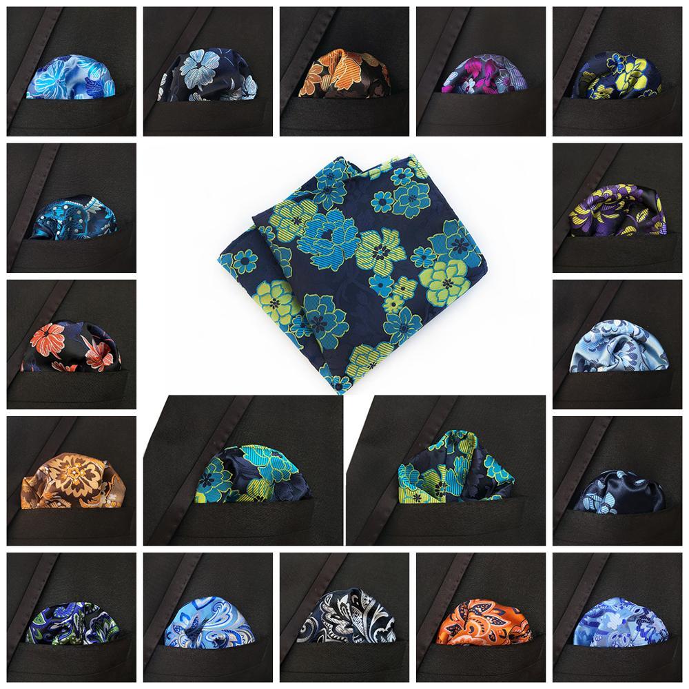 Men's Floral Silk Handkerchief Paisley Pocket Square Fashion Men Hanky For Wedding Party Chest Towel 25*25CM