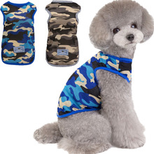 Cat Dog-Vest T-Shirt Clothing Outfit Tank-Top Pets Dogs Summer Sleeveless Mesh XL Camo