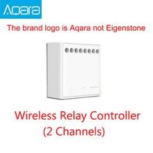 Mijia Aqara module de contrôle sans fil à deux voies, Original, relai à 2 canaux, fonctionne avec application Mijia et Home kit