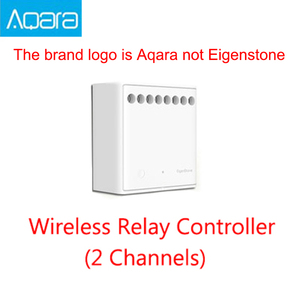 Image 1 - Original Mijia Aqara 양방향 제어 모듈 무선 릴레이 컨트롤러 2 채널 Mijia APP 및 홈 키트 작동