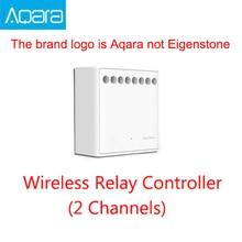 オリジナルmijia aqara双方向制御モジュールワイヤレスリレーコントローラ 2 チャンネル作業ためmijiaアプリとホームキット