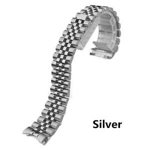 Image 2 - Mannen Vrouwen 13mm 17mm 20mm Merken Zilver Goud rvs Horlogebanden Strap Vervangen Voor DATEJUST ROL Horloge polsband Armband