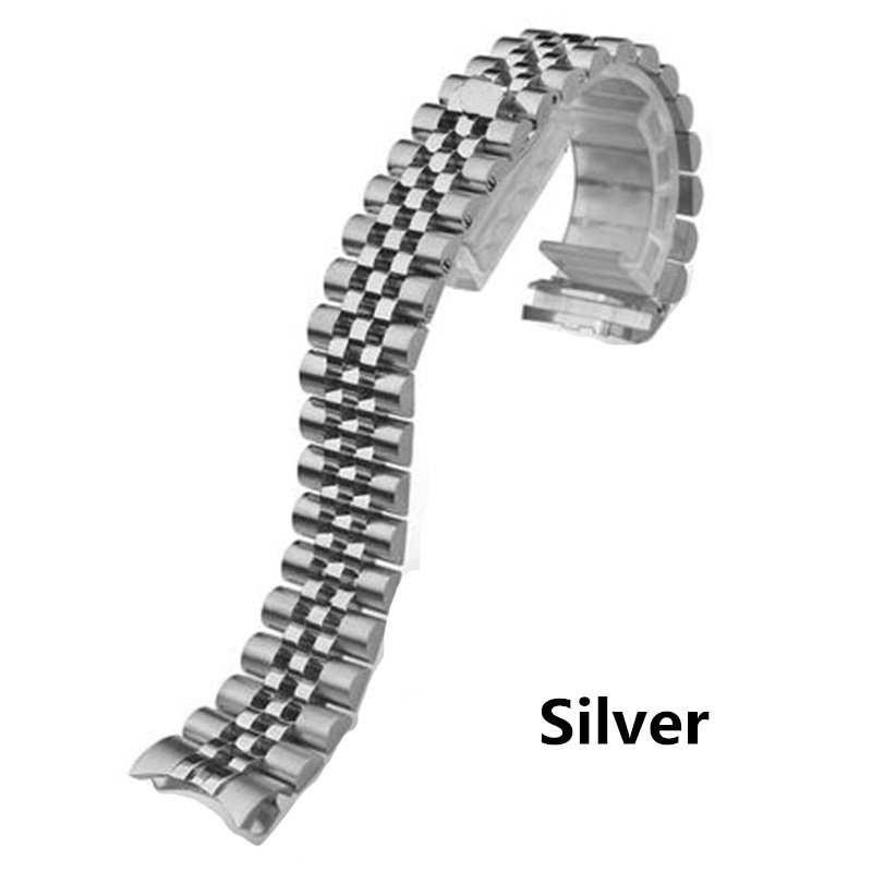Image 2 - Men Women 13mm 17mm 20mm Brands Silver Gold Stainless steel WatchBands Strap Replace For DATEJUST ROLE Watch Wristband BraceletWatchbands   -