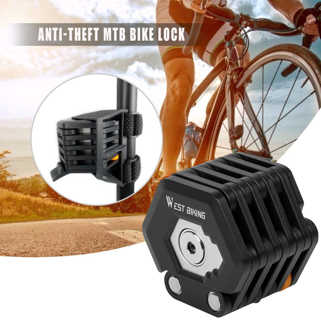 Durable Anti Thef Tlock Safety Lock Metal pvc Bicycle Accessories Wire Lock W