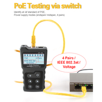 LCD Network Cable Tester Multi functional Current Tester with Cable Tester and PoE Checker Inline PoE Voltage