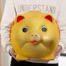 かわいい豚貯金箱マネーボックス高級子供マネー銀行クリエイティブ大型金庫カハ · dinero seguridadプラスチック大金ボックスBA60XXG