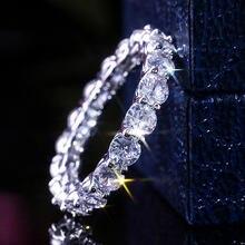 Ustar Роскошные aaa кубические циркониевые кольца для женщин