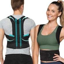 Posture Corrector Back Support Belt Shoulder Lumbar Waist Po