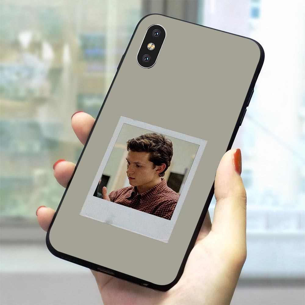 Tampa Do Telefone Case para iPhone 5 Tom Holland XR X 7 8 Plus 6 5S SE Xs 6S Max TPU macio