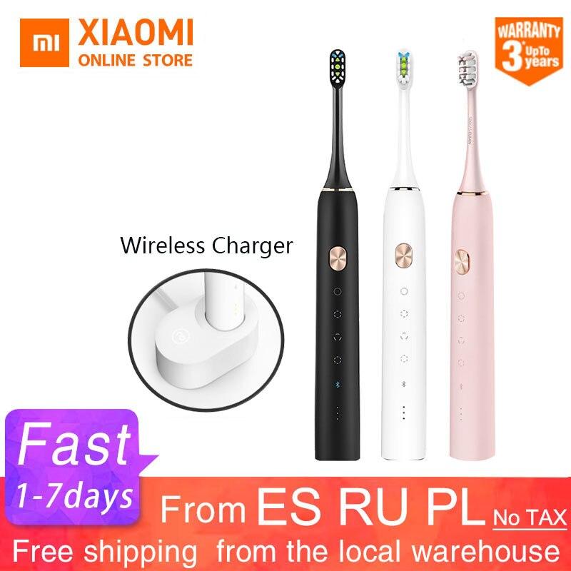 Xiaomi Mijia зубная щетка Soocas X3 X3s Soocas обновленная электрическая звуковая умная Bluetooth Водонепроницаемая беспроводная зарядка Mi Home APP|Электрические зубные щетки|   | АлиЭкспресс