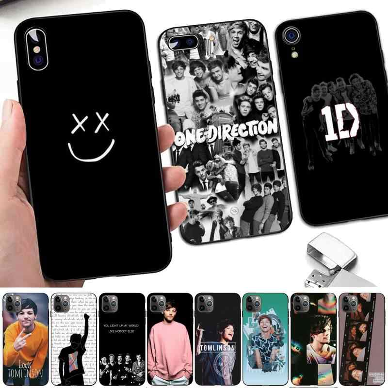 TOPLBPCS One Direction Louis Tomlinson Cassa Del Telefono per il iPhone 8 7 6 6S Plus X 5S SE 2020 XR 11 12 pro XS MAX