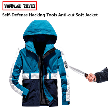 veste couteau self-defense anti-cut stab-proof men jacket tacticocut resistant police swat fbi safety protective clothing M-4XL self defense anti cutting stab fashion casual jacket fbi military tactical invisible soft safety politie kleding tactico policia