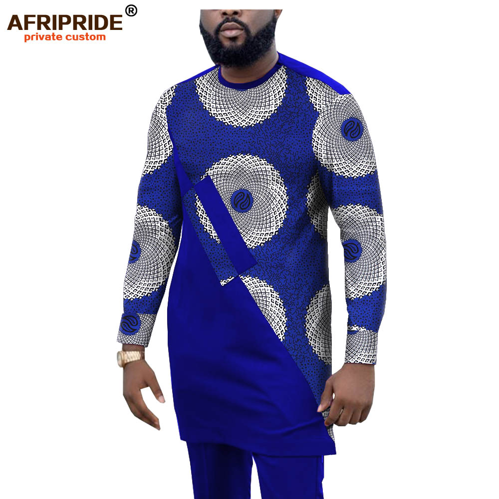 African Outfits For Men Print Shirts And Print Pants Set Dashiki Tracksuit Men African Clothing Sweatsuits AFRIPRIDE A1916058