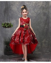 New European and American style fashion handmade piano costumes trailing flower princess ball grown tutu dress for girls