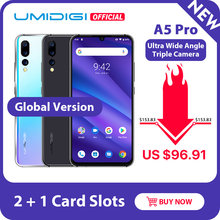 UMIDIGI A5 PRO Versión Global Android 9,0 Octa Core 6,3 'FHD + gota de agua 16MP Triple Cámara 4150mAh 4GB RAM 4G(China)