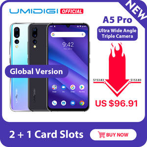 UMIDIGI 32gb 4GB Octa Core Face Recognition 16MP New Celular Smartphone Triple-Camera