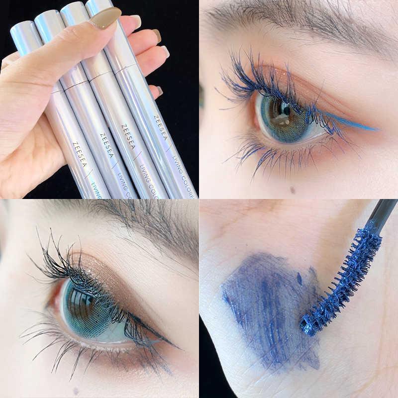 ZEESEA nouveau 9 couleurs Mascara larme maquillage brillance coloré friser imperméable à l'eau séchage rapide Extension de cils cosmétiques
