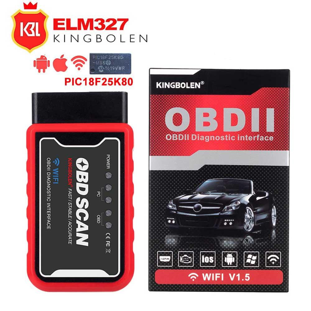 OBD2 автомобильный диагностический инструмент ELM327 Wifi/Bluetooth для IOS/Android/Symbian для протокола OBDII с чипом PIC18F25K80 OBDII сканер