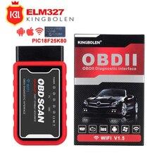 Strumento diagnostico dellautomobile OBD2 ELM327 Wifi/Bluetooth per IOS/Android/Symbian per il protocollo OBDII con lo Scanner OBDII del Chip