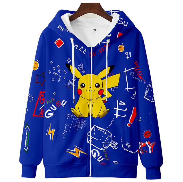 Teens Men Women Cute Hoodie Sweatshirt 3D Casual Zipper Anime Hoodies Pollover Yellow Harajuku Streetwear Spring Autumn 5