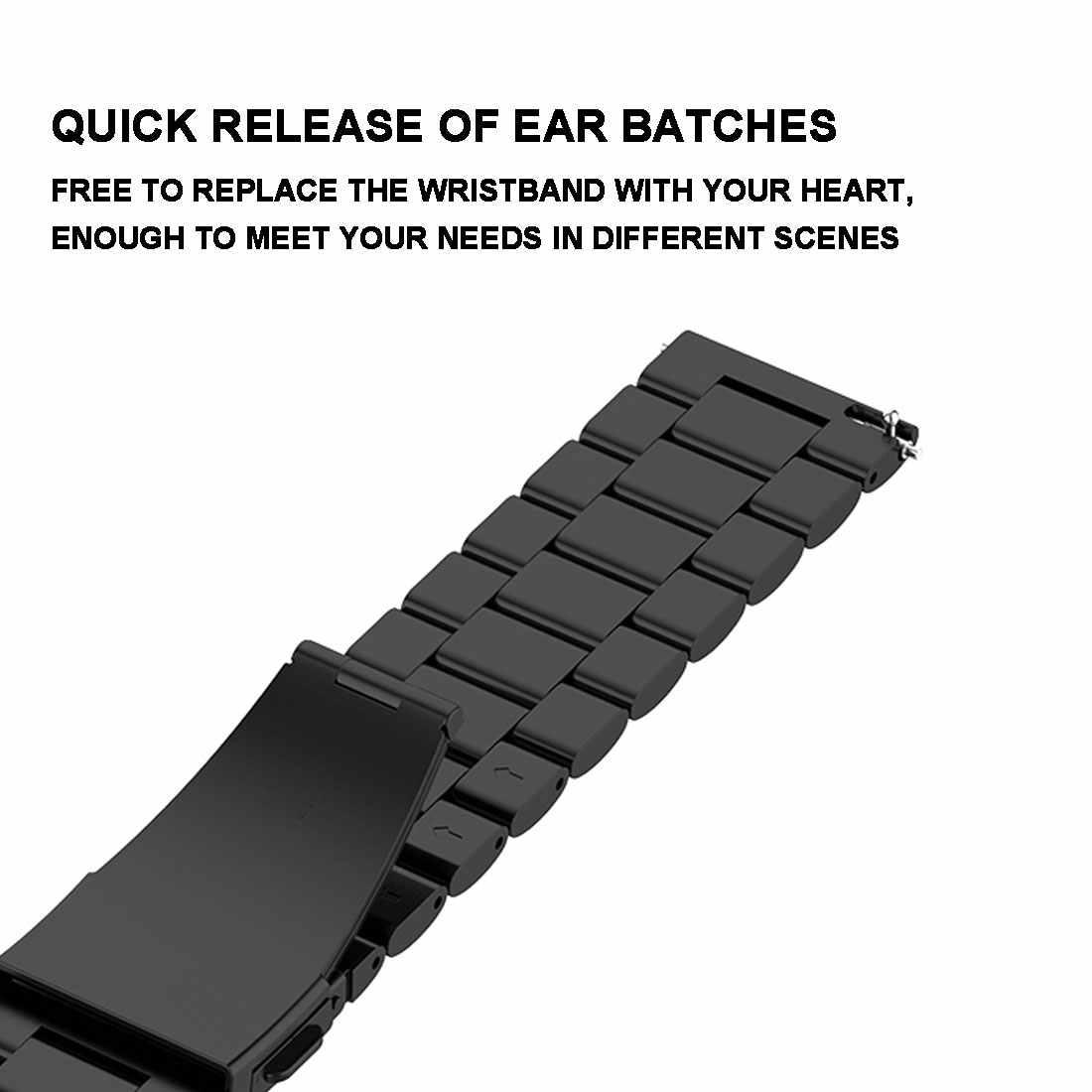 Correa de Metal de repuesto para Xiaomi Huami Amazfit Bip BIT Lite Youth Smart Watch pulsera de muñeca portátil correa de reloj 20mm