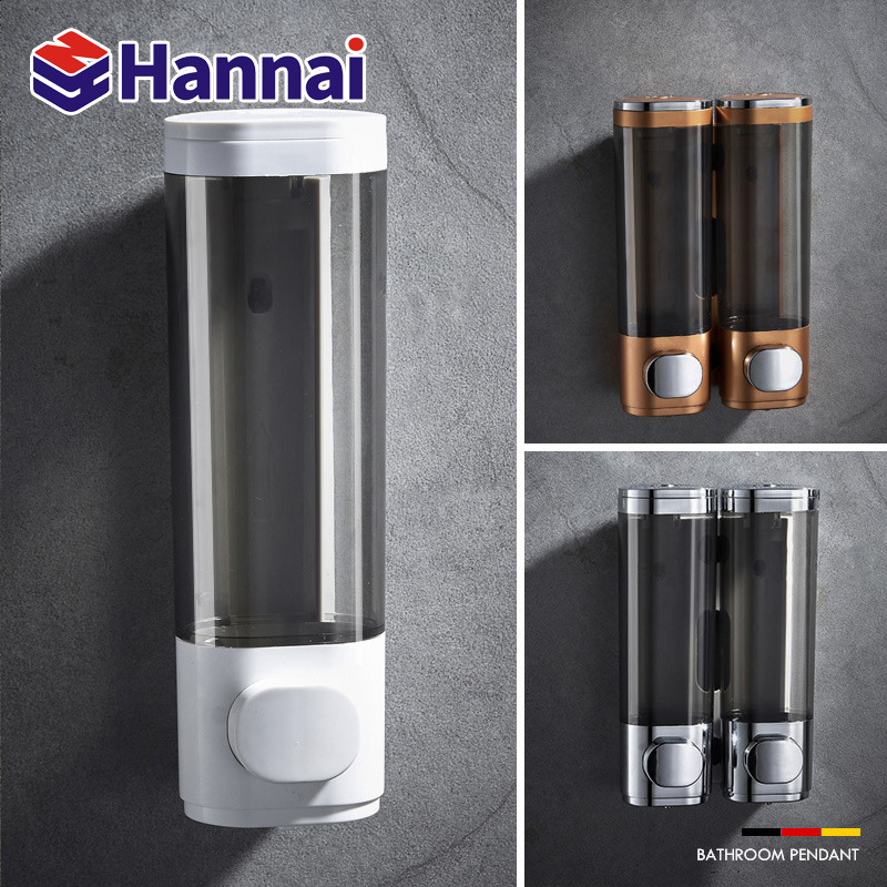 Shampoo Bath Box Hotel Wall Hanging Soap Device A Source Of Foreign Trade Wholesale Double Chambers Soap Dispenser Kitchen
