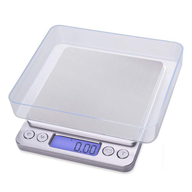 Balanzas de cocina portátiles Balanza digital electrónica precisa Mini caja de bolsillo Joyería postal Peso Gramo Balanca Comida 500g 0.01g