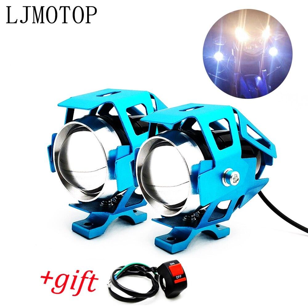 Motosiklet farları yardımcı lamba U5 led spot 12V DRL Yamaha TTR125 TTR250 TTR600 XT250 TRICKER DT230 DT125 title=